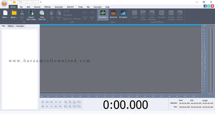 نرم افزار ویرایش فایل های صوتی - AVS Audio Editor 8.2.1
