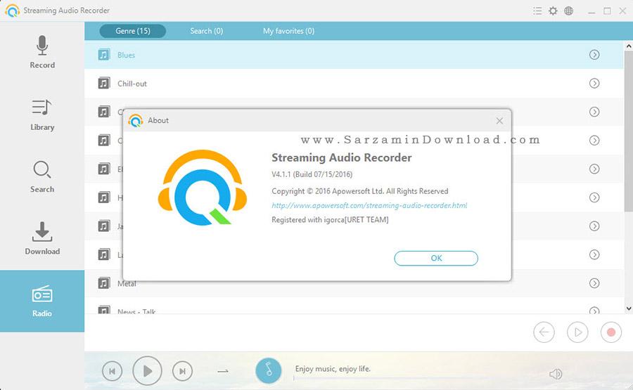 نرم افزار ضبط موسیقی های آنلاین - Apowersoft Streaming Audio Recorder 4.1.1