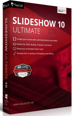 نرم افزار نمایش اسلاید عکس - AquaSoft SlideShow 10 Ultimate 10.3.01