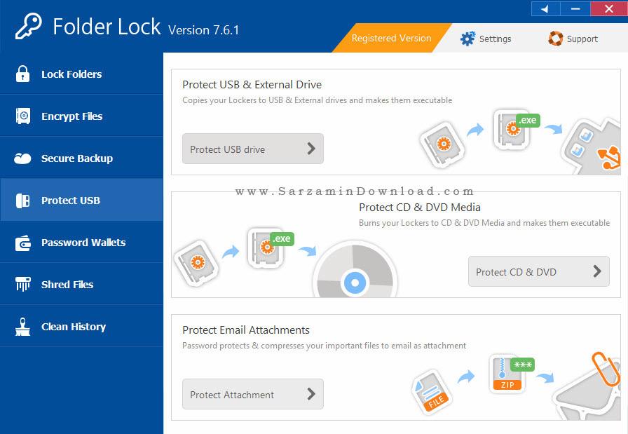 نرم افزار امنیت فایل ها - Folder Lock 7.6.1