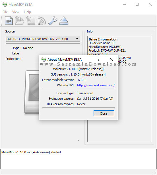 نرم افزار ساخت فیلم های ام کی وی - MakeMKV 1.10