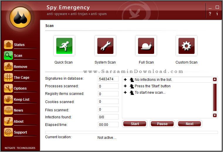 نرم افزار ضد جاسوسی - NETGATE Spy Emergency 22