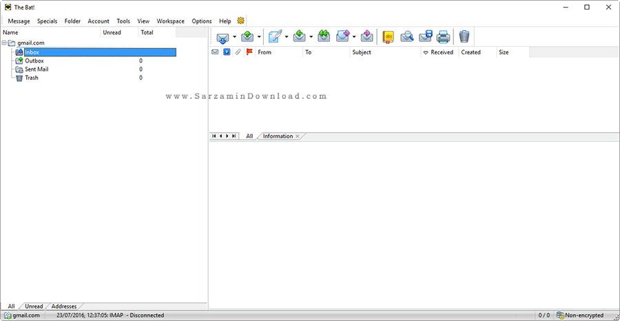 نرم افزار مدیریت ایمیل - The Bat Professional 7.2