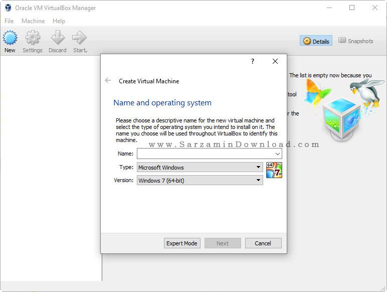 نرم افزار کامپیوتر مجازی - با قابلیت نصب چندین سیستم عامل - VirtualBox 5.1.2