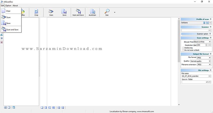 نرم افزار حرفه ای اسکن - A4ScanDoc 1.9.2.5