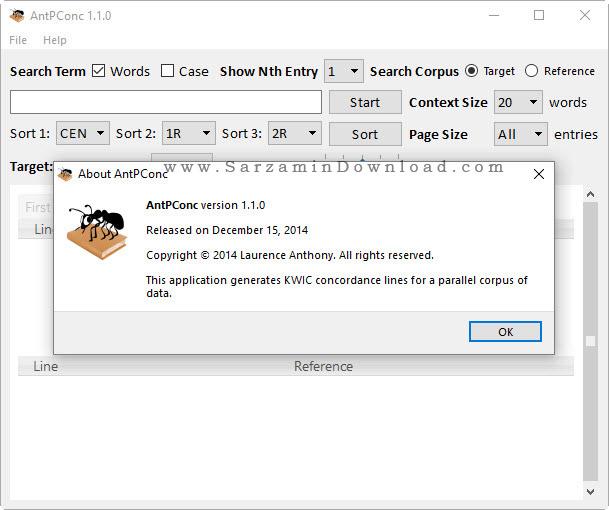 نرم افزار بررسی و آنالیز متن ها - AntPConc 1.1