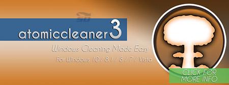 نرم افزار پاکسازی و حذف فایل های اضافی - Atomiccleaner3 v1.3