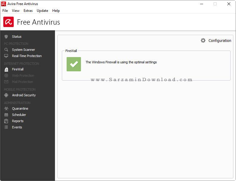آنتی ویروس رایگان آویرا - Avira Free AntiVirus 2015 v15
