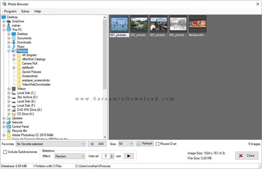 نرم افزار مشاهده و ویرایش تصاویر - Photo Browser 3.21