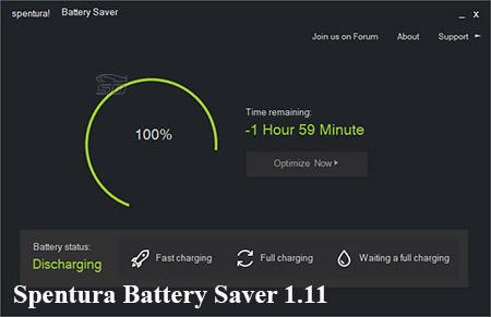 نرم افزار بهینه سازی باتری لپ تاپ - Spentura Battery Saver 1.11