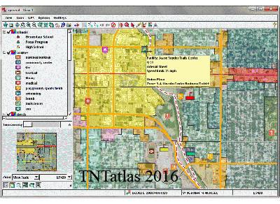 نرم افزار آنالیز نقشه های جغرافیایی - TNTatlas 2016