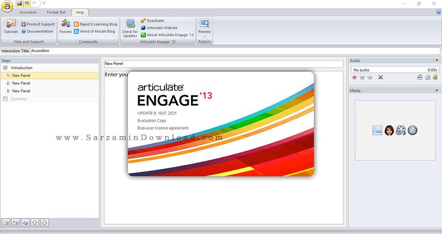 نرم افزار تولید برنامه های آموزشی - Articulate Studio 13 Pro v4.8