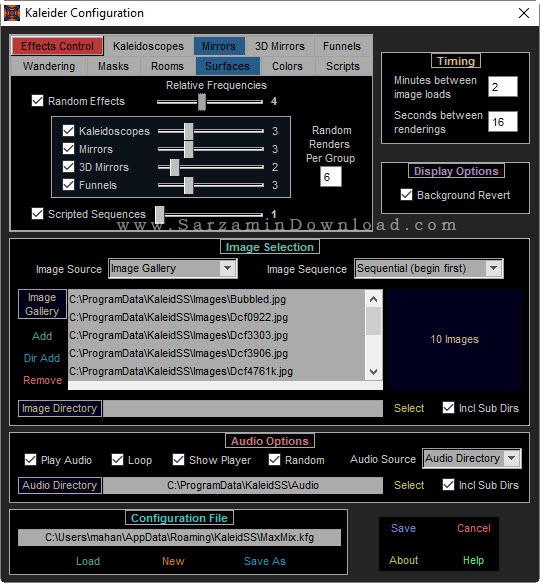 نرم افزار اسکرین سیور سه بعدی - Kaleider Screensaver 5.1