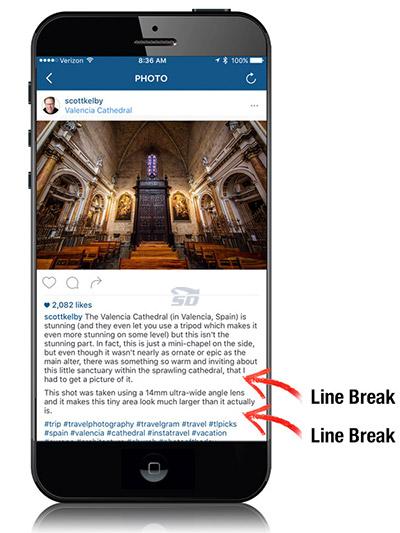 آموزش ایجاد فاصله بین خطوط در اینستاگرام
