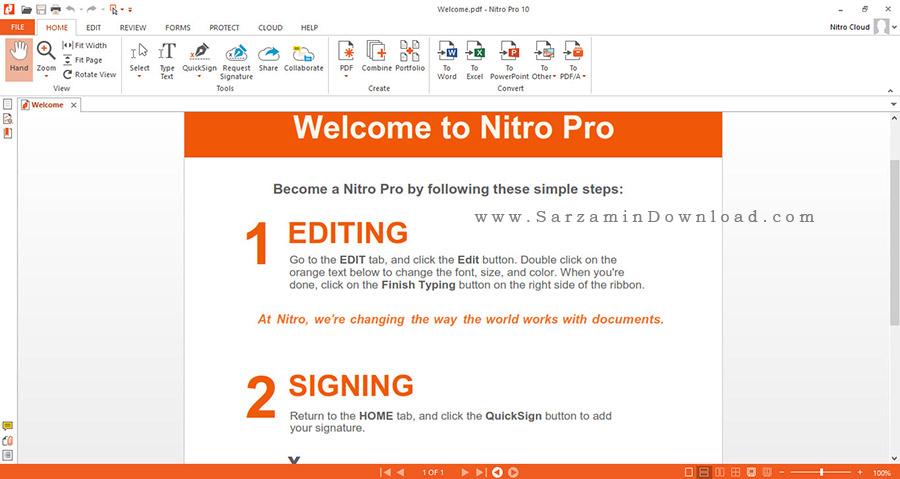 نرم افزار ساخت و ویرایش فایل های پی دی اف - Nitro Pro 10.5.9