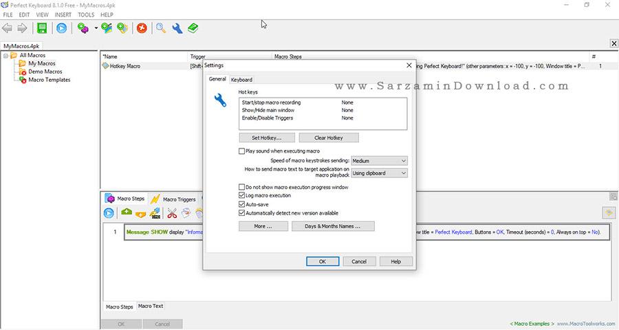 نرم افزار ضبط ماکرو - Perfect Keyboard Free 8.1