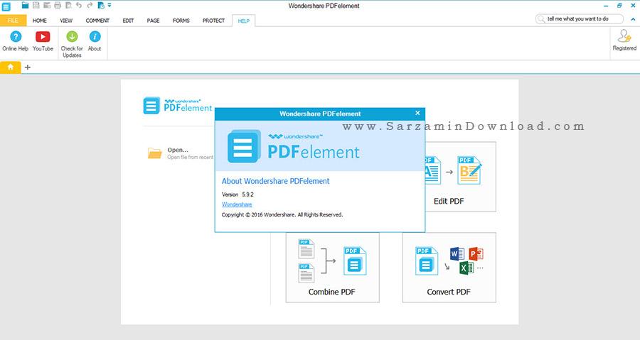نرم افزار ویرایش فایلهای پی دی اف - Wondershare PDFelement 5.9.2.9