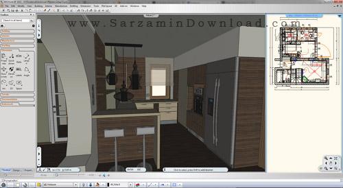 نرم افزار طراحی داخلی ساختمان - ARCHLine XP 2016