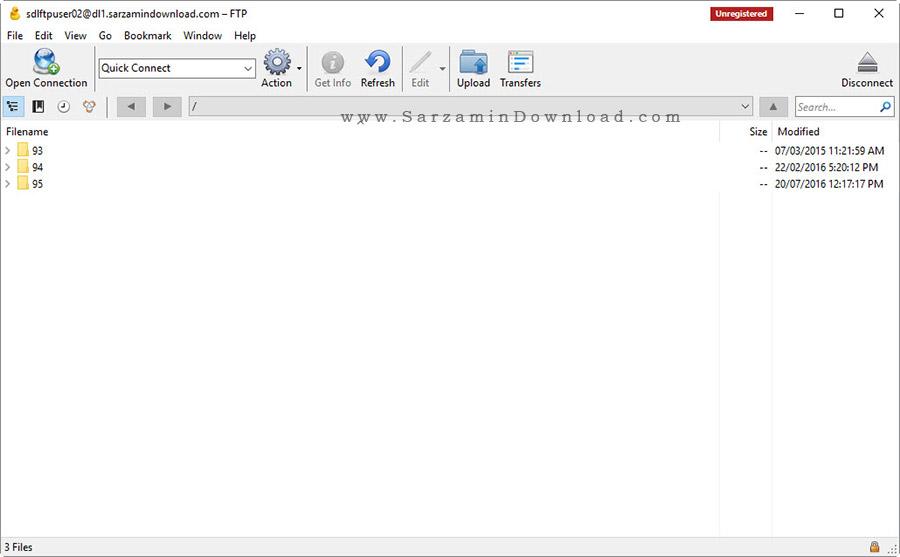 نرم افزار مدیریت انتقال فایل به سرور - Cyberduck 5