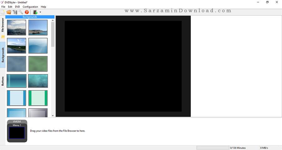 نرم افزار ساخت منو دی وی دی - DVDStyler 3