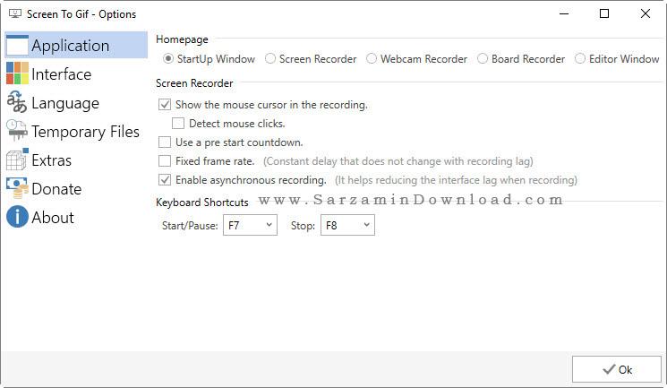 نرم افزار فیلمبرداری از محیط دسکتاپ با فرمت گیف - Screen To Gif 2.1