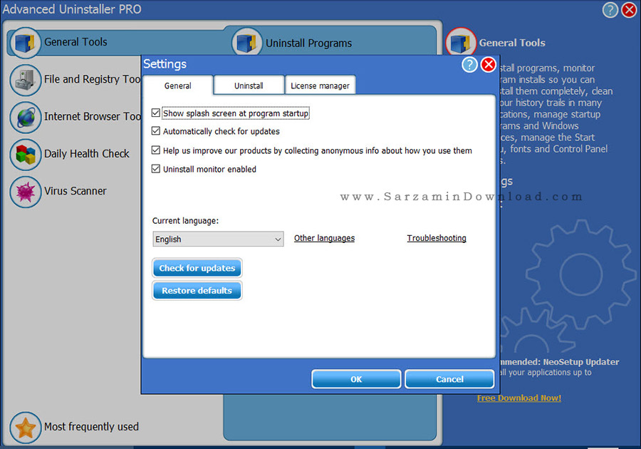 نرم افزار پاکسازی برنامه های نصب شده - Advanced Uninstaller PRO 12.14