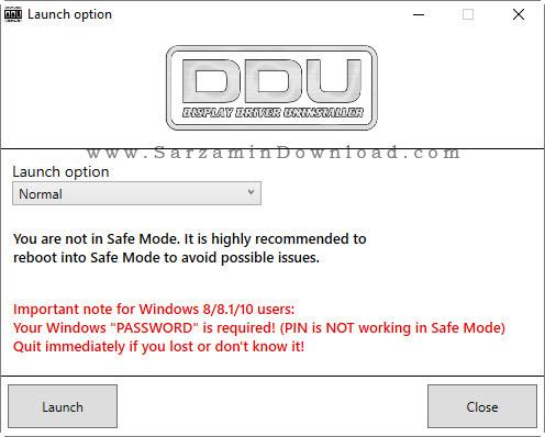 نرم افزار حذف درایور کارت گرافیک - Display Driver Uninstaller 17