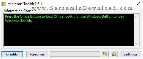 فعال ساز انواع نسخه های ویندوز و آفیس تولکیت 2.6.1