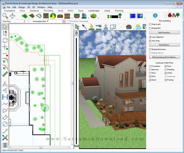 نرم افزار طراحی سه بعدی ساختمان (برای ویندوز) - Architect 3D Ultimate 2017 v19 Windows
