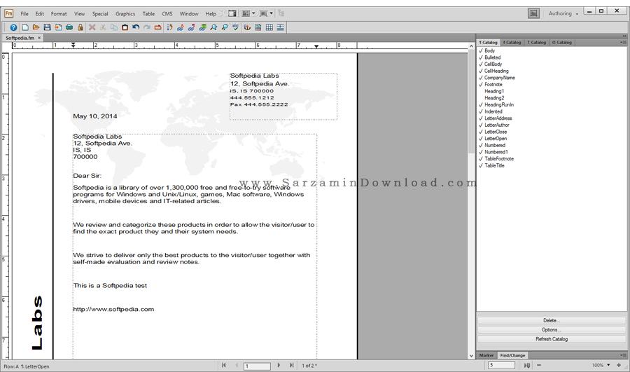 نرم افزار صفحه آرایی و چاپ و انتشار کتاب (برای ویندوز) - Adobe FrameMaker 2017 v14 Windows