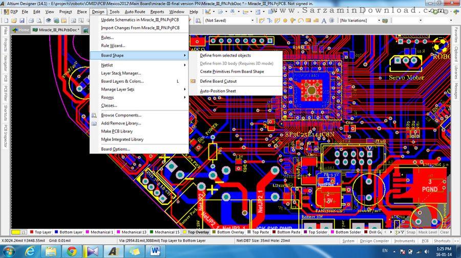 نرم افزار طراحی مدارات الکترونیکی (برای ویندوز) - Altium Designer 17.0.11 Build 656 Windows