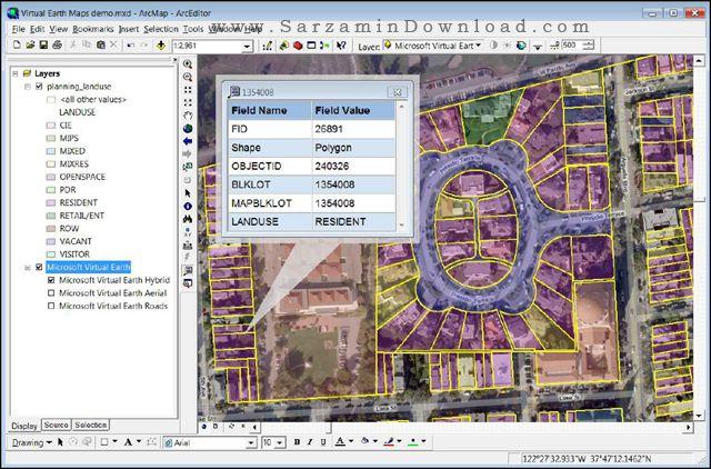 نرم افزار ایجاد نقشه و مدیریت اطلاعات مکانی (برای ویندوز) - ESRI ArcGIS Desktop 10.5 Windows