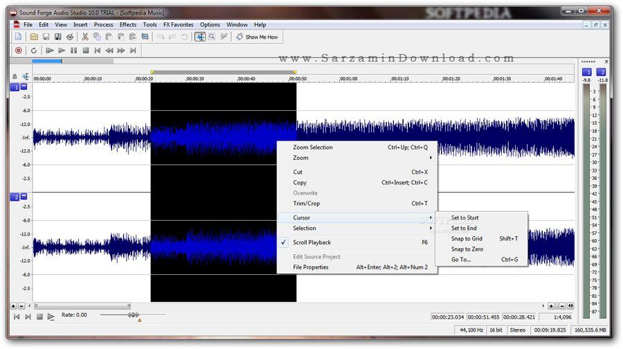 نرم افزار حرفه ای ویرایش فایل های صوتی (برای ویندوز) - Sound Forge Audio Studio 10.0 Build 295 Windows