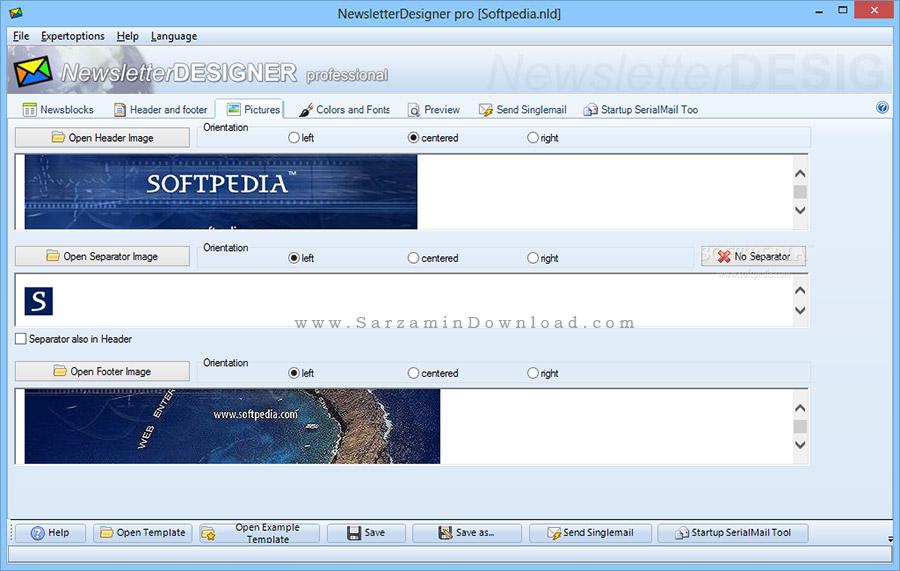 نرم افزار طراحی خبرنامه های تبلیغاتی (برای ویندوز) - NewsletterDesigner Pro 11.3 Windows