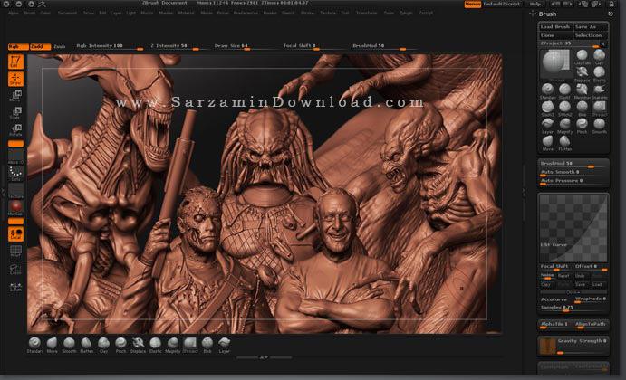 نرم افزار ساخت و تولید انیمیشن های 3 بعدی (برای ویندوز) - Pixologic ZBrush 2021.1.1 Windows