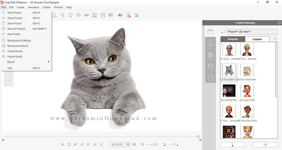 نرم افزار طراحی شخصیت انیمیشنی (برای ویندوز) - Reallusion CrazyTalk Pipeline 8.12 Windows