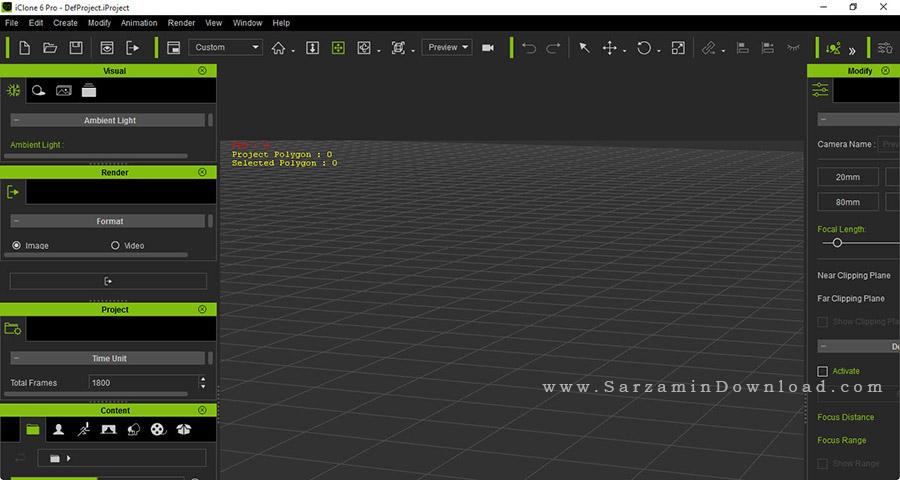 نرم افزار ساخت انیمیشن و شخصیت های سه بعدی (برای ویندوز) - Reallusion iClone Pro 7.01 Windows