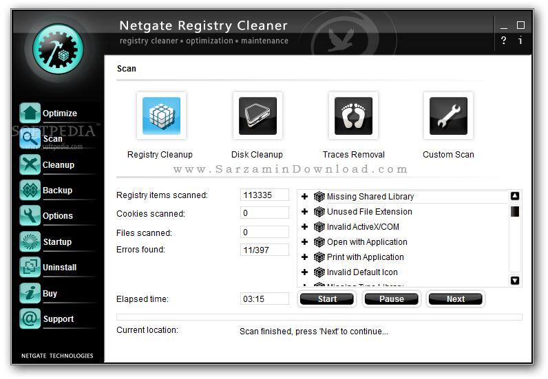 نرم افزار پاکسازی رجیستری ویندوز - NETGATE Registry Cleaner 17.0.590.0 Windows
