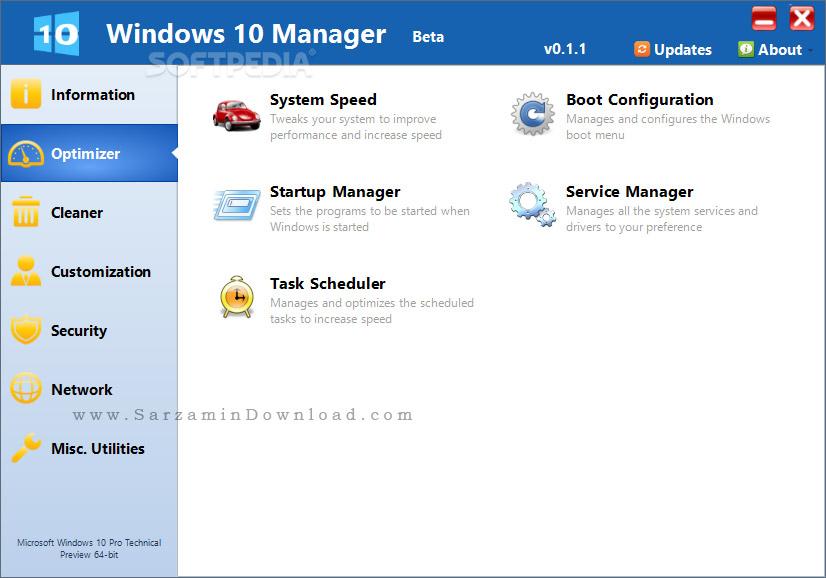 نرم افزار مدیریت و تعمیر ویندوز 10 (برای ویندوز) - Windows 10 Manager 2.1.5 Windows