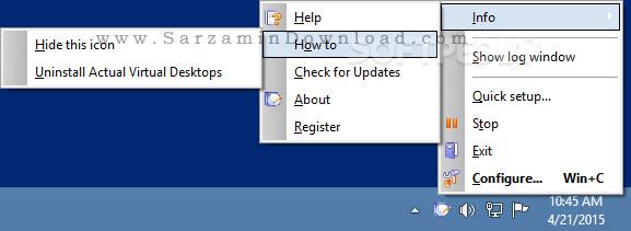 نرم افزار دسکتاپ مجازی (برای ویندوز) - Actual Virtual Desktops 8.11.1 Windows
