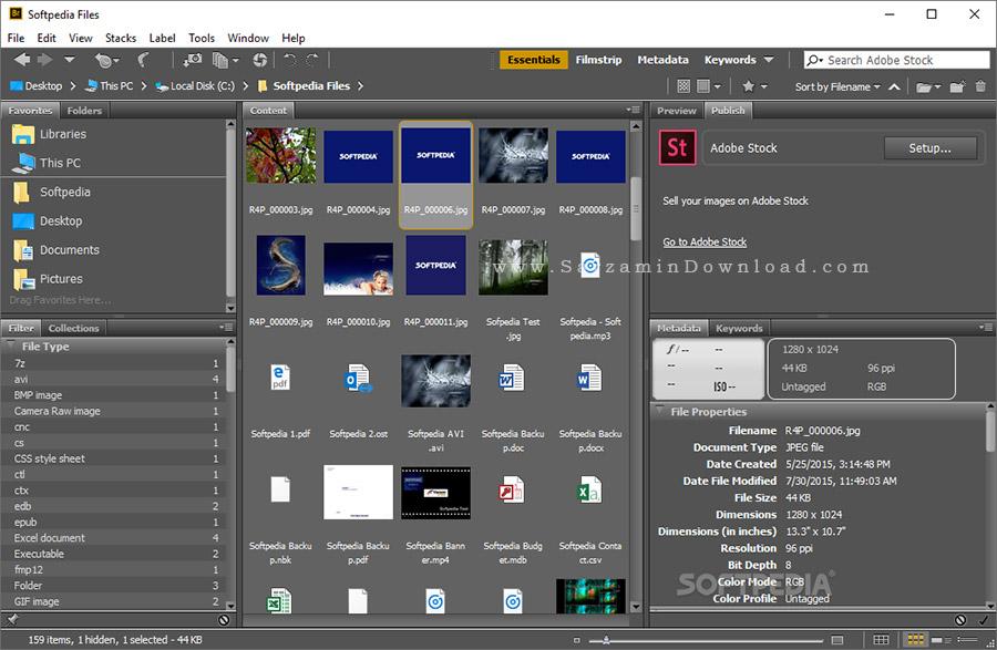 نرم افزار مدیریت حرفه ای عکس ها (برای ویندوز) - Adobe Bridge CC 2017 v7.0.0.93 Windows