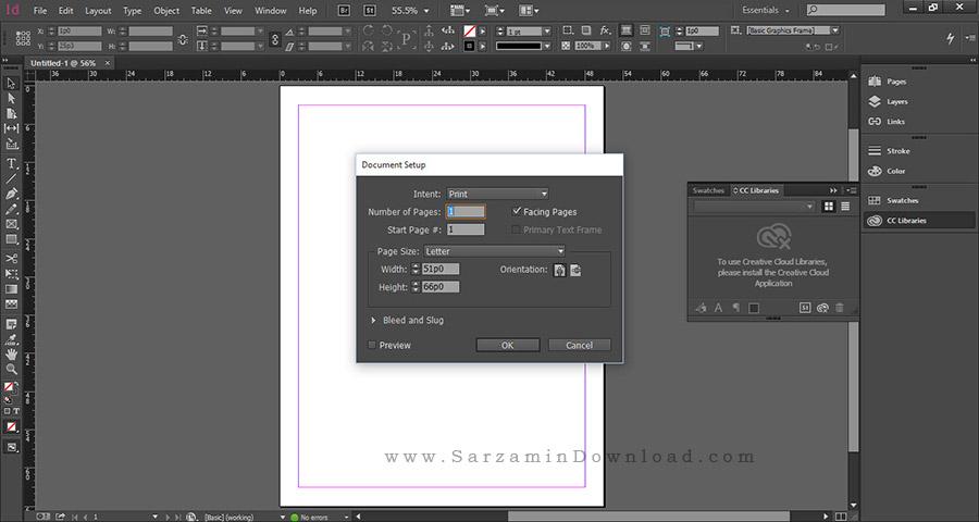 نرم افزار صفحه آرایی و انجام امور چاپی، ایندیزاین (برای ویندوز) - Adobe InDesign CC 2017 v12.1.0.56 Windows