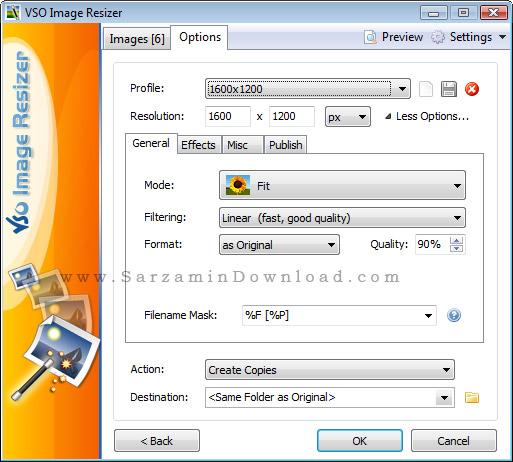 نرم افزار تغییر سایز عکس بدون افت کیفیت (برای ویندوز) - Light Image Resizer 5.0.9.0 Windows