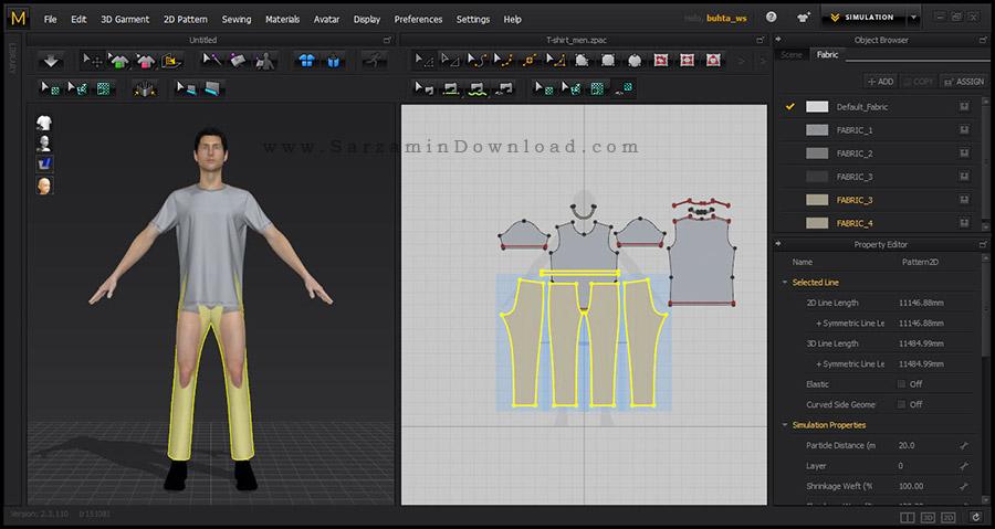 نرم افزار حرفه ای ژورنال لباس، طراحی لباس (برای ویندوز) - Marvelous Designer 7 Personal 3.2.84.27098 Windows