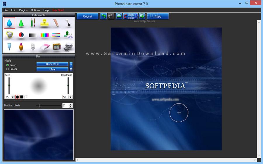 نرم افزار حرفه ای رتوش و رفع عیوب عکس (برای ویندوز) - PhotoInstrument 7.6 Build 934 Windows