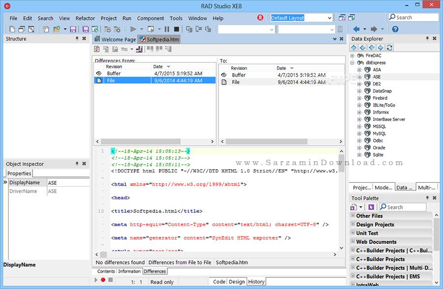 مجموعه زبان های برنامه نویسی (برای ویندوز) - Embarcadero RAD Studio 10.4 Windows