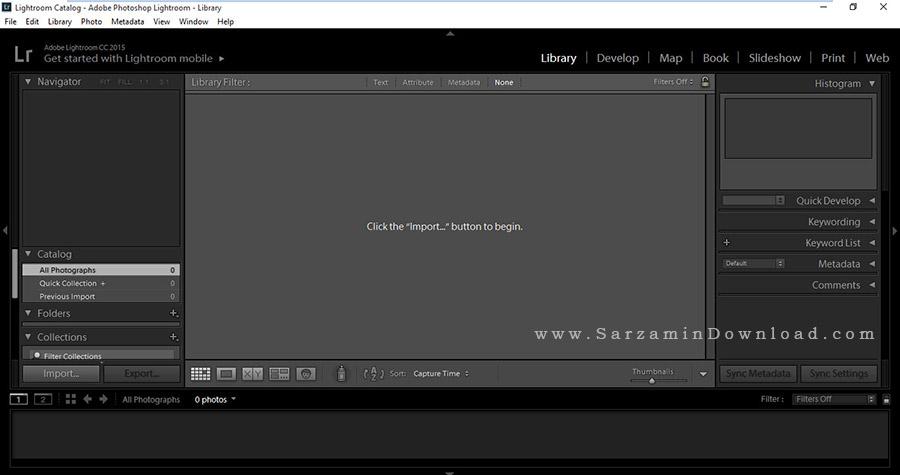 نرم افزار فتوشاپ لایت روم (برای ویندوز) - Adobe Photoshop Lightroom CC 2018 v7.0.0.10 Windows