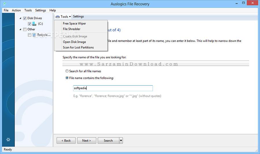 نرم افزار بازیابی فیلم های پاک شده (برای ویندوز) - Auslogics File Recovery 7.2.0 Windows
