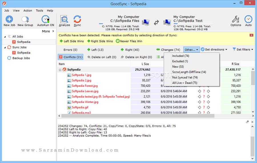 نرم افزار پشتیبان گیری و هماهنگ سازی فایل ها (برای ویندوز) - Goodsync Enterprise 10.6.6.8 Windows