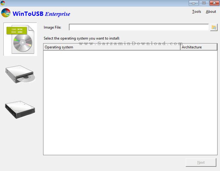 نرم افزار ساخت ویندوز لایو بر روی فلش مموری (برای ویندوز) - WinToUSB Enterprise 3.8.1 Windows